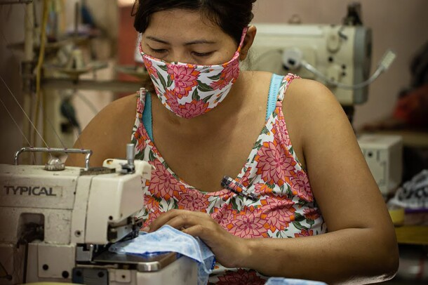 Individuals working in sustainable supply chain