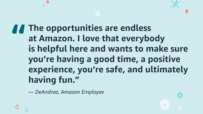 An image of a quote from an Amazon employee.