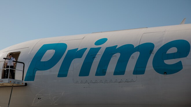 Prime Air aircraft on a runway