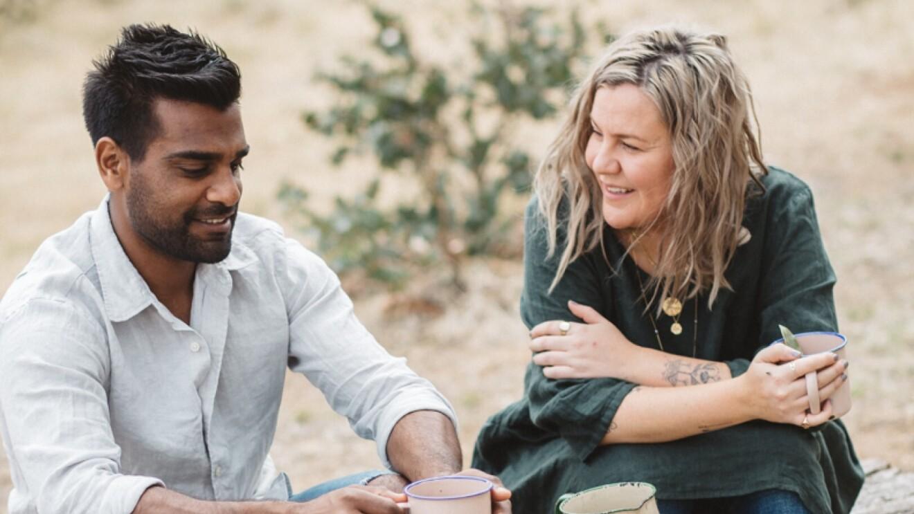 Photo of Warndu founders, Rebecca Sullivan and Damien Coulthard.