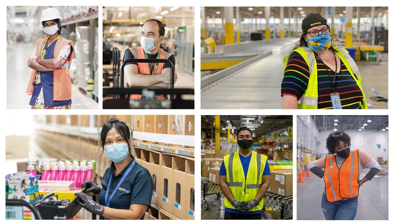 Group image of employees at the fulfillment centre