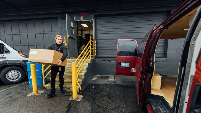 Amazon partners with local agencies to deliver meals to those most vulnerable to COVID-19.