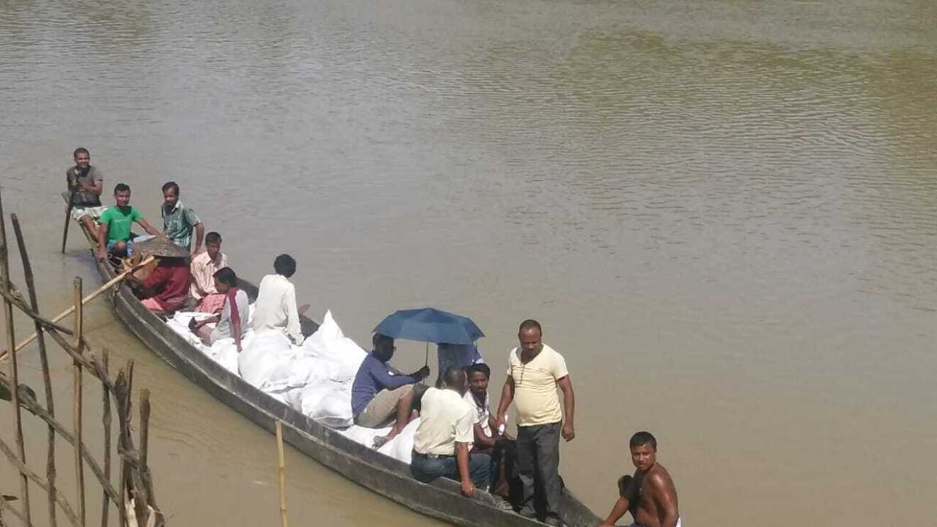 Flood relief works on the North East