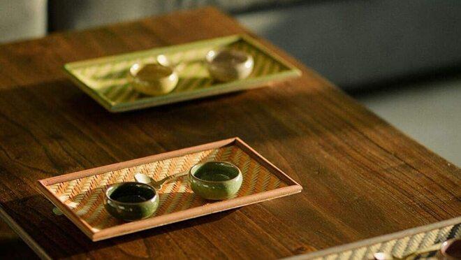Bamboo tray Amazon INdia