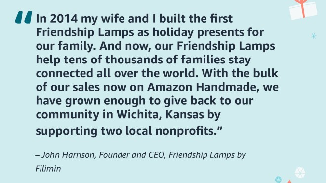 Images of quotes from small business sellers on Amazon.