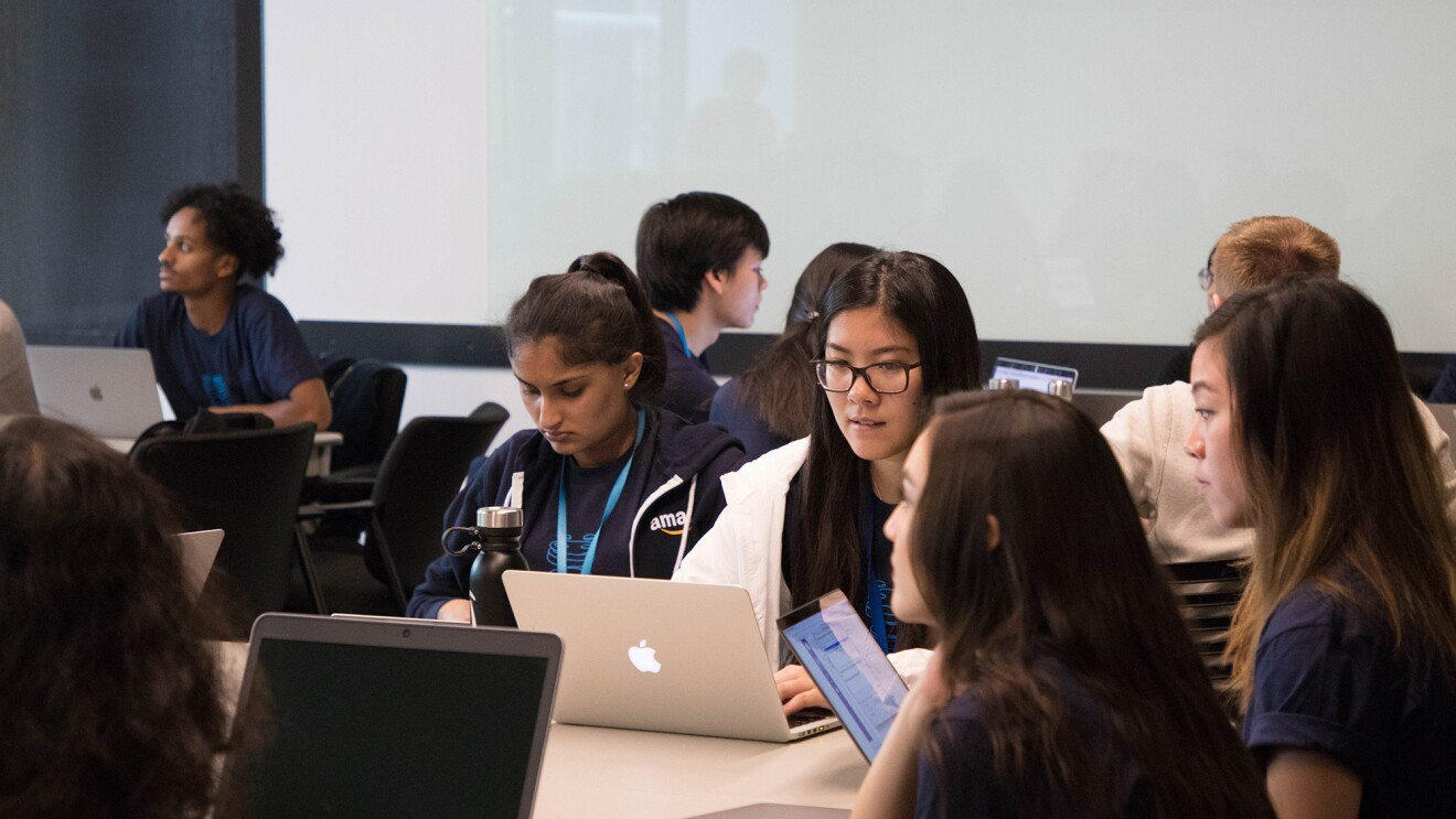 Students participating in Amazon Future Engineer program