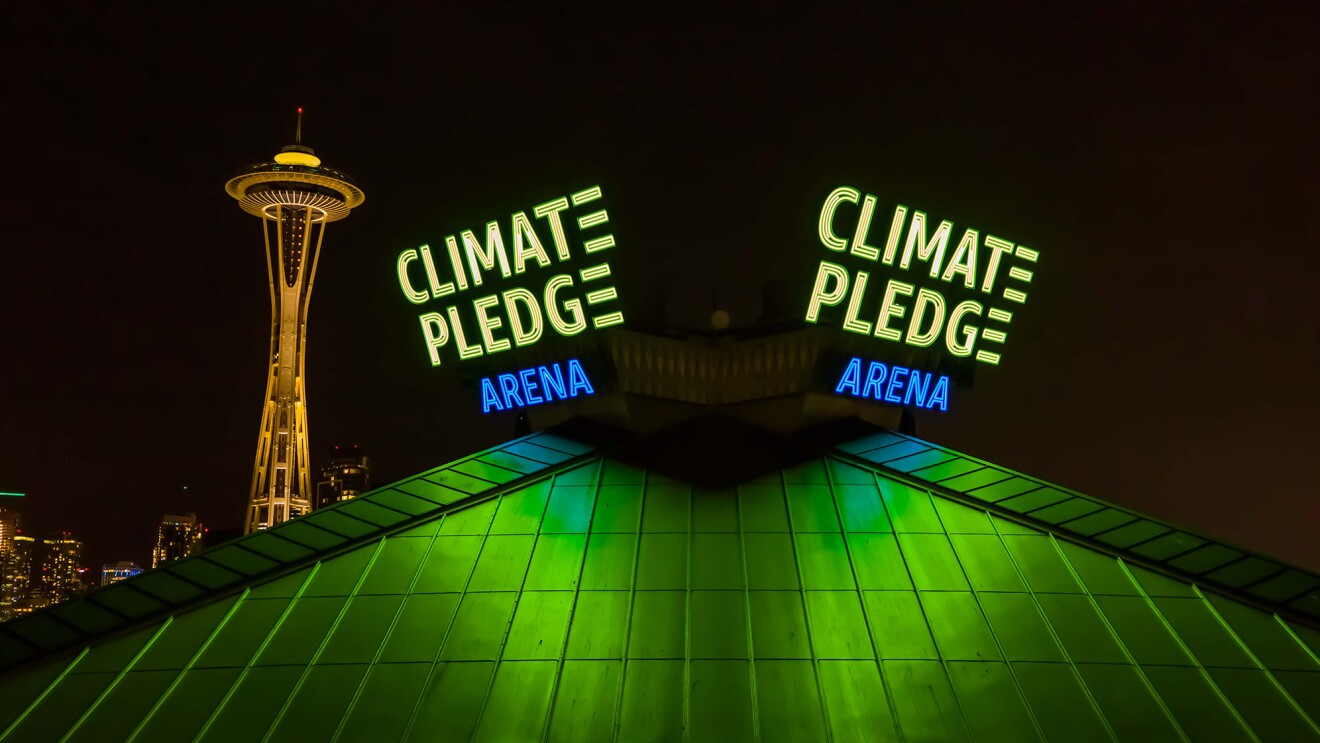 Scenes from the new Climate Pledge Arena