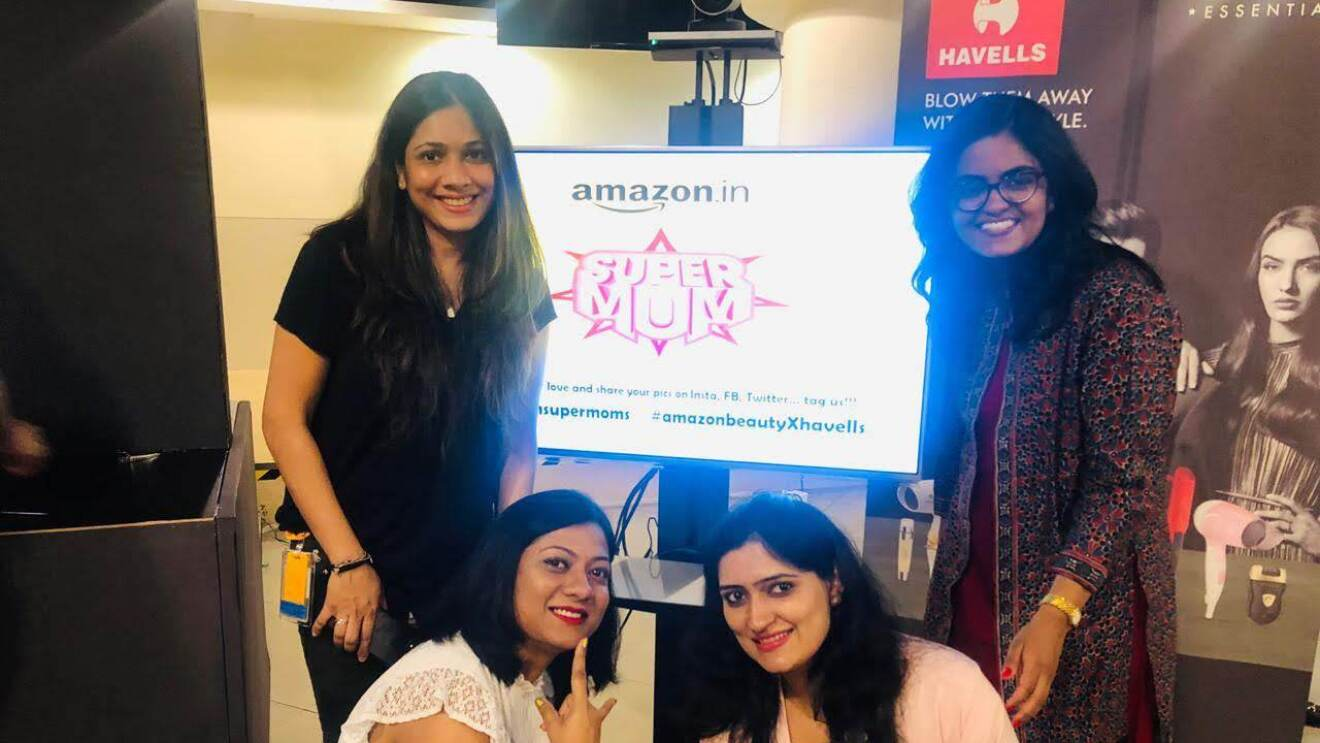 Supermoms of Amazon posing for a picture