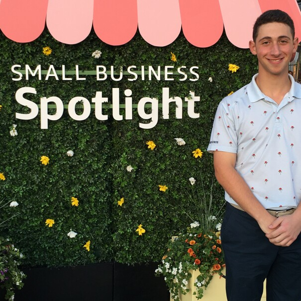 Teen entrepreneur who is selling their products on Amazon