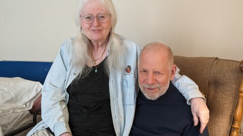"Rosemary and Paul, two people in their 70s who share how their Echo device is helping Paul live ""a better and longer life."""