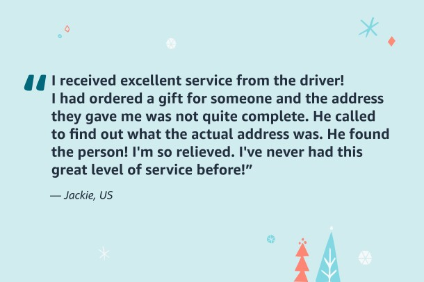 An image showing a quote from an Amazon customer.