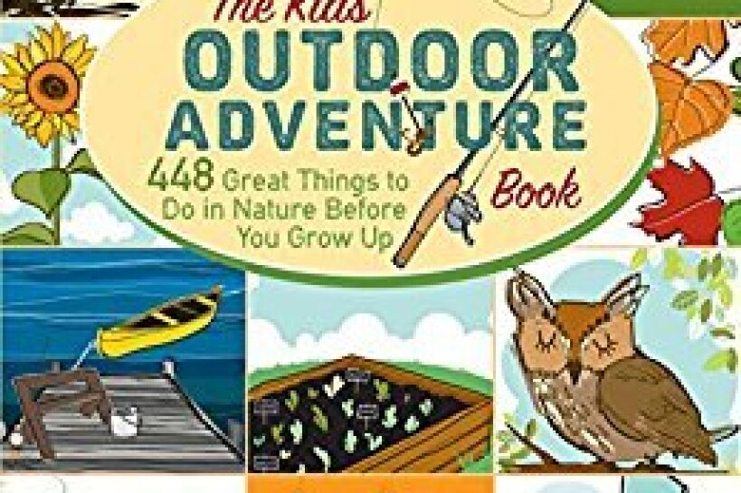 "Book cover of ""The Kids' Outdoor Adventure Book"" by Stacy Tornio and Ken Keffer"