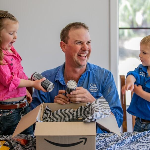 Scott and his children