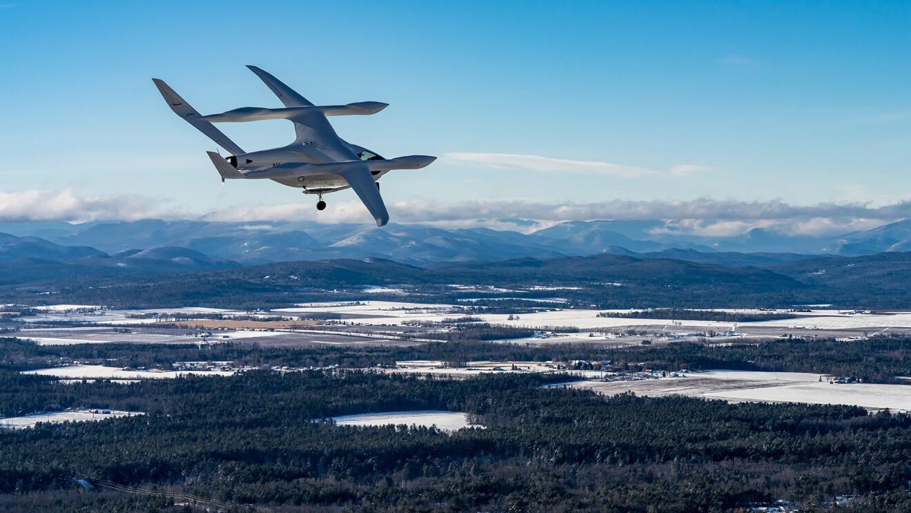 BETA zero-emission aircraft in flight