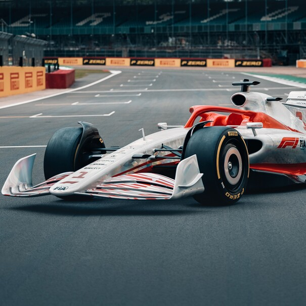 An image of the new Formula 1 2022 car.