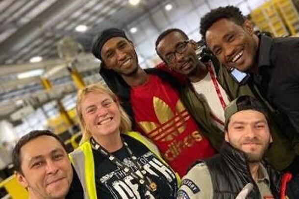 Amazon associates at Rugely, UK