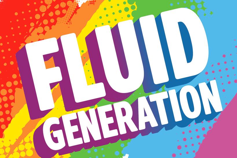 Logo of the London Pride playlist 'Fluid generation'