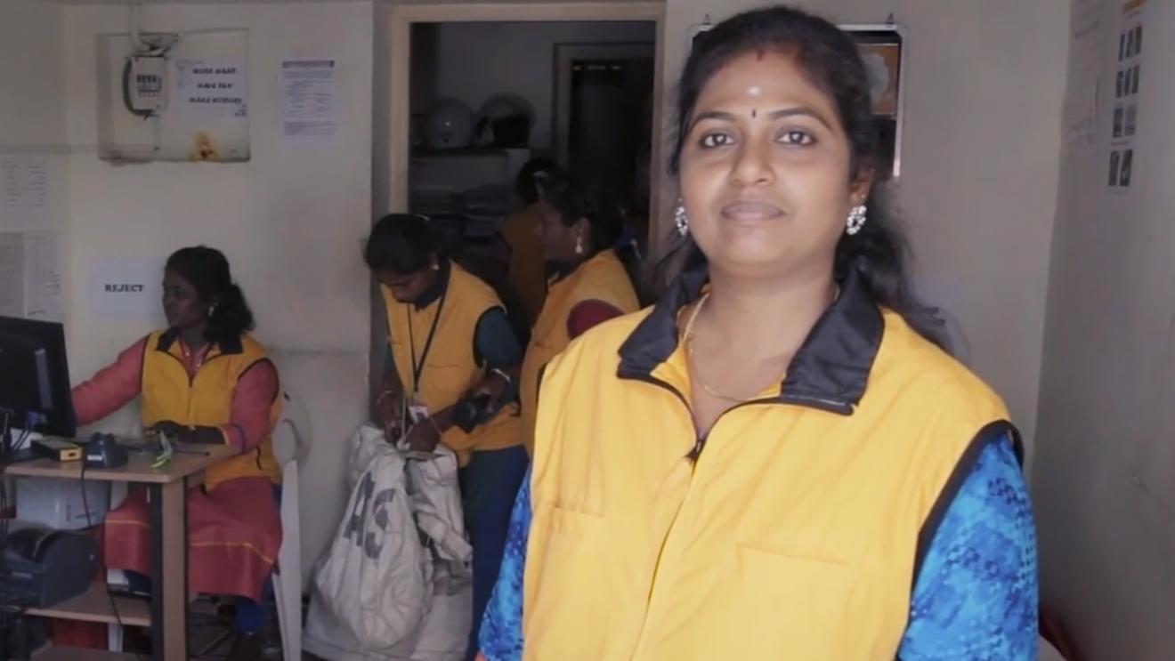 Jamuna Rani, propreitor of Sarini Associates, and a Delivery Service Partner of Amazon