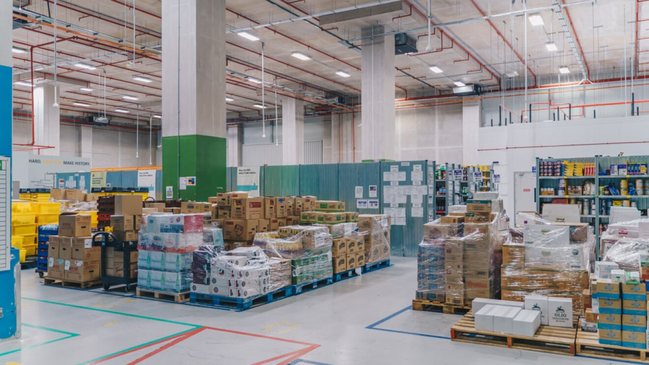 Inbound packages at the fulfillment centre in Singapore