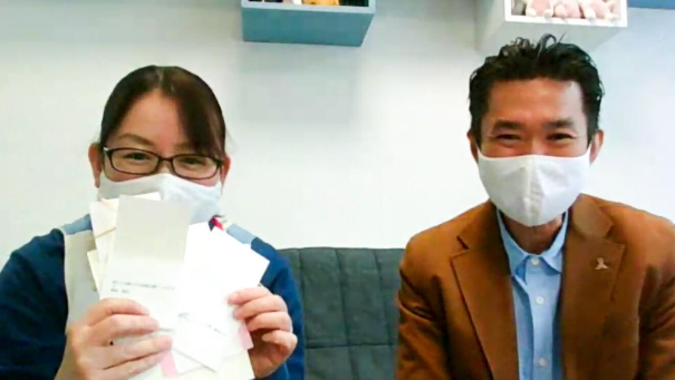 乳児院エンジェルホーム施設長の古里美夏さんと、ほうゆう・キッズホーム施設長の馬場敏さん