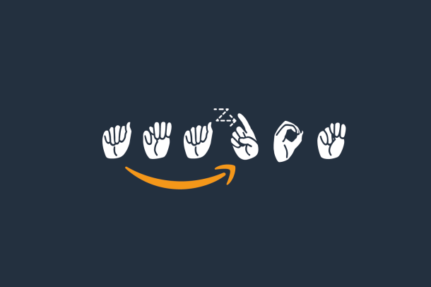 Amazon logo in American Sign Language