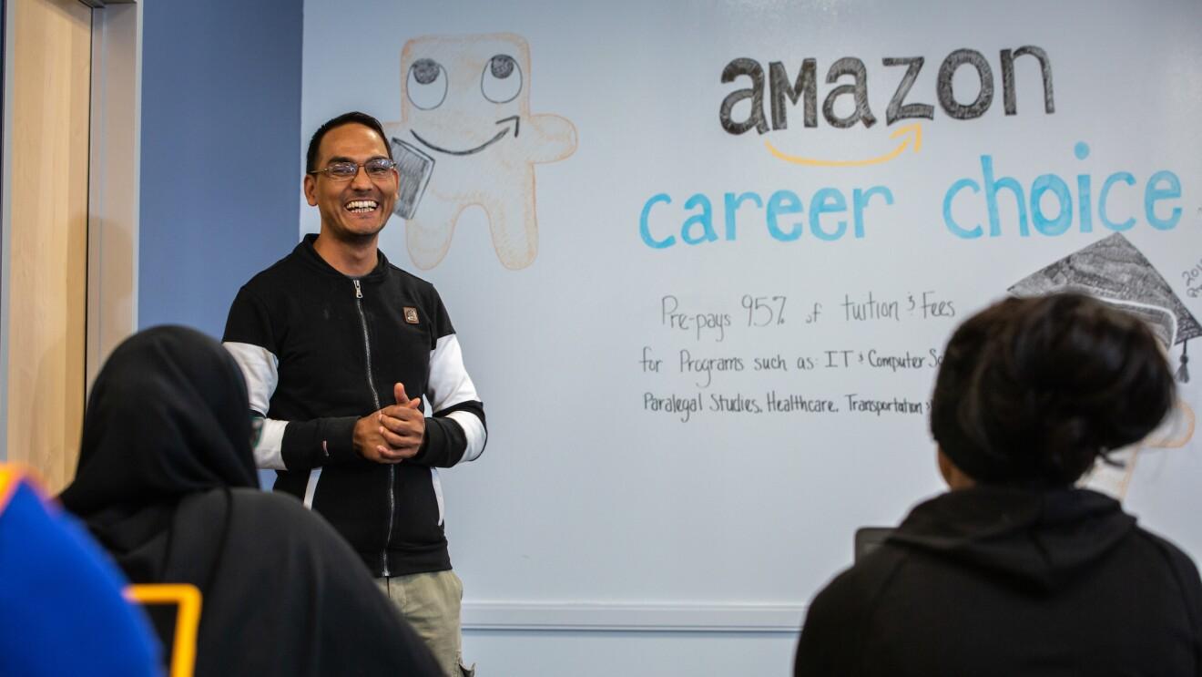 A Career Choice class at an Amazon fulfillment center