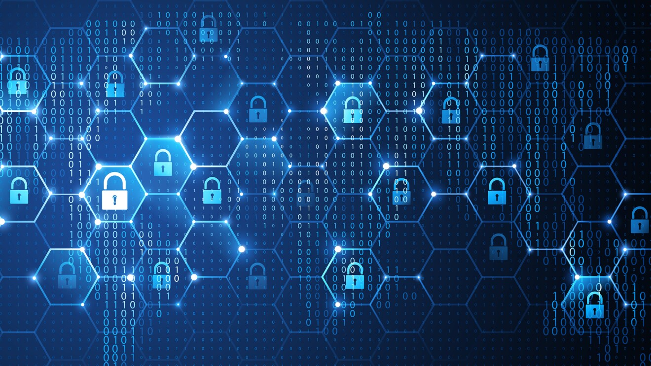 A vector image illustrating cyber security concept