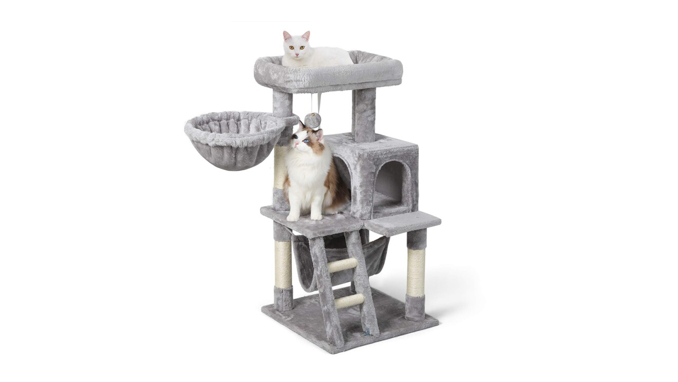 Rabbitgoo Plush Cat Condo with hammock