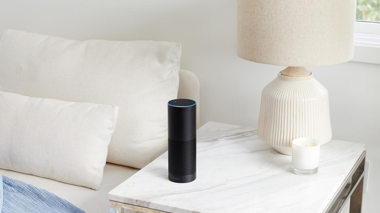 Amazon Echo, an Alexa-enabled device