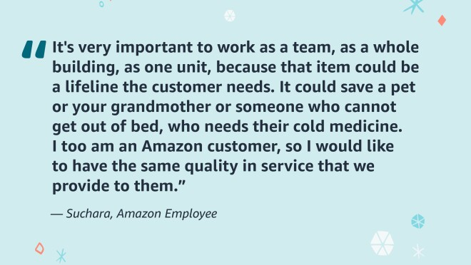 An image showing an employee quote.