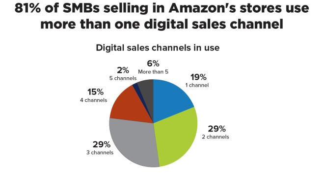 "Infographic image that says ""81% of SMBs selling in Amazon's stores use more than one digital sales channel"""