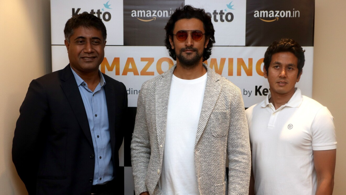 Gopal PIllai, VP Seller Services, Amazon India with the co-founders of the Ketto platform Kunal Kapoor and Zaheer Adenwala