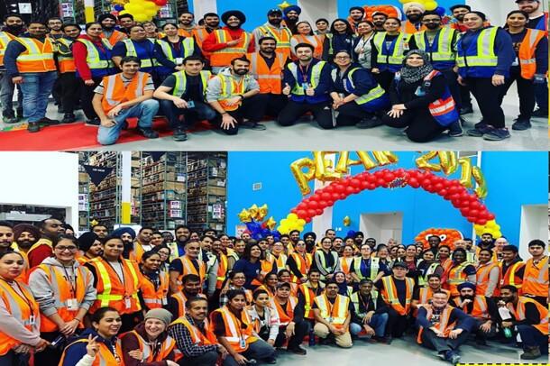 Amazon associates celebrating the start of Peak