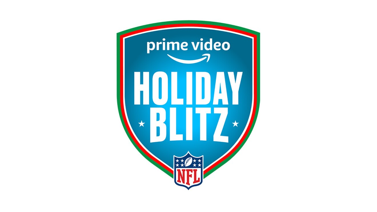 The logo for the NFL Holiday Blitz event