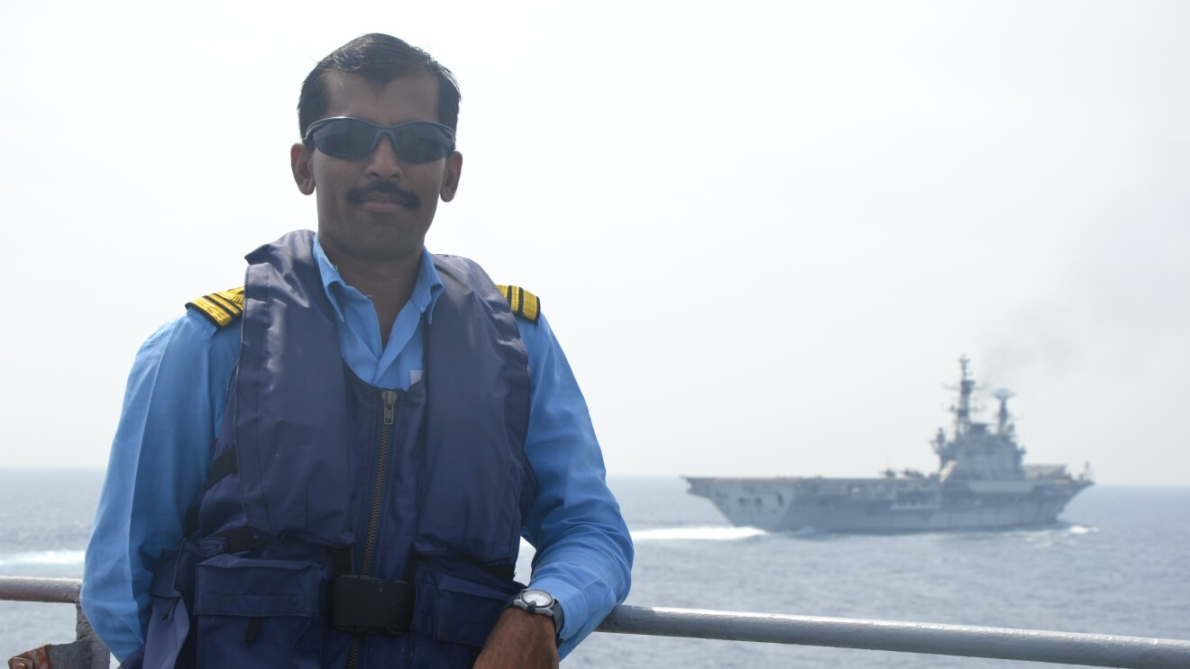 Ashok Kumar in his Navy days