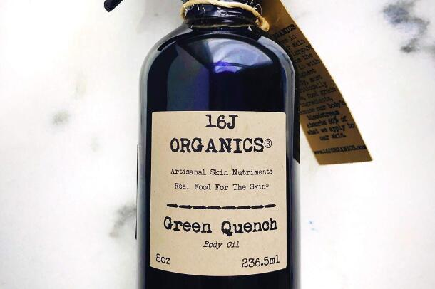 A front view of a product by 16J Organics