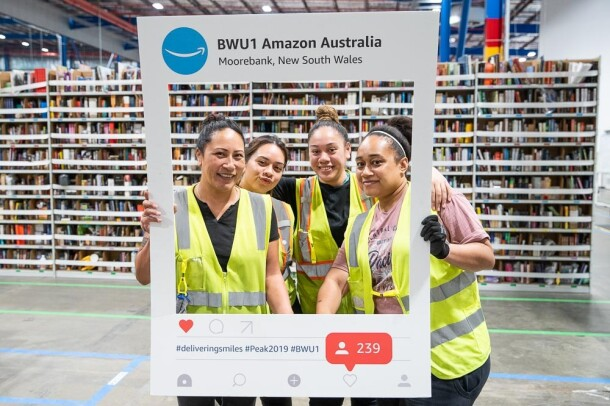 Amazon associates at Australia fullfillment center