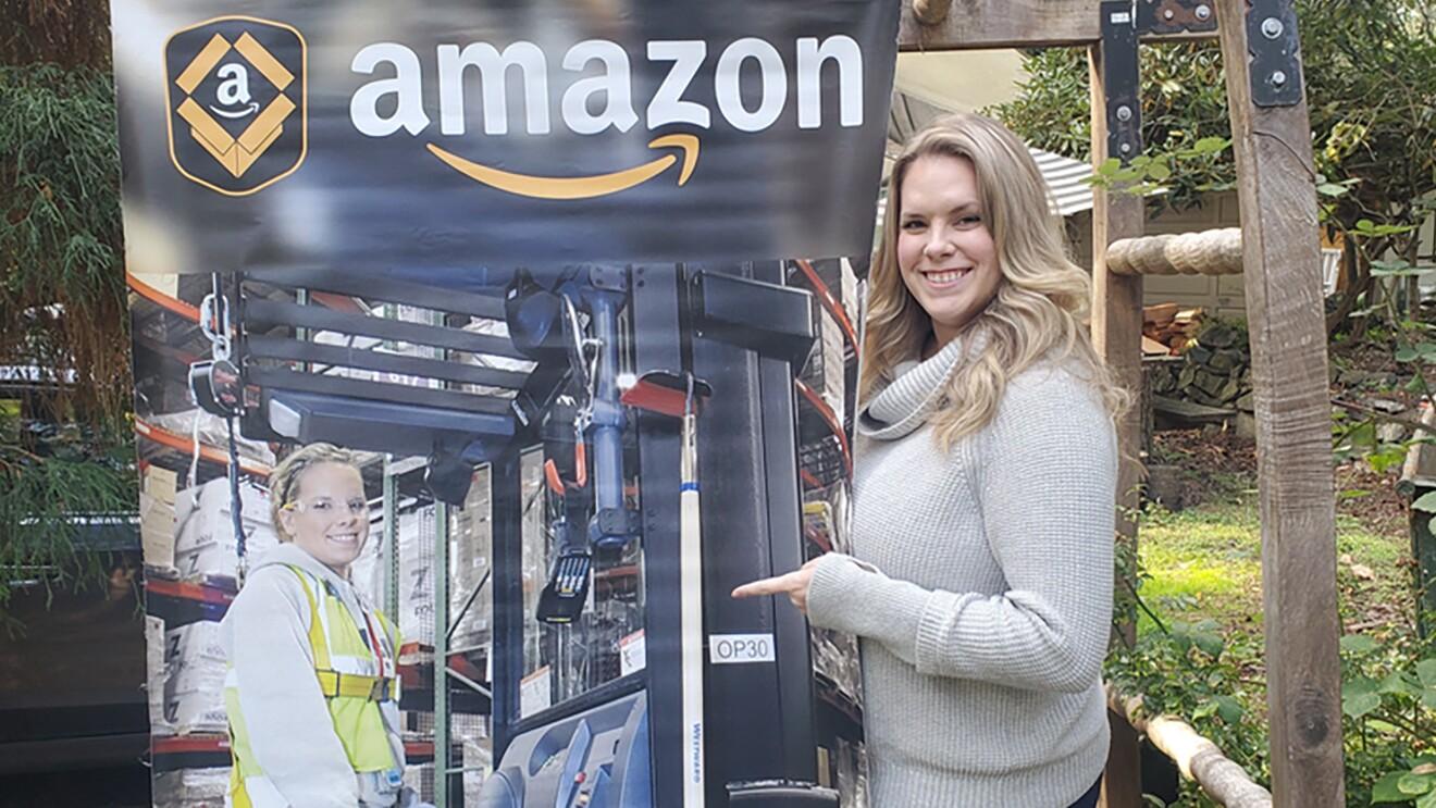 Amazon employee Alyssa Cox