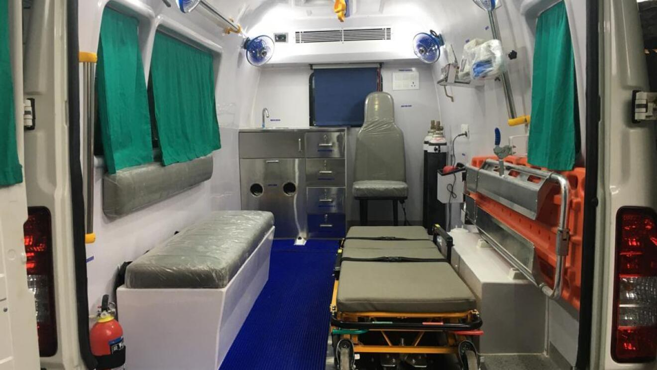 Inside the COVID Ambulance supporetd by AWS