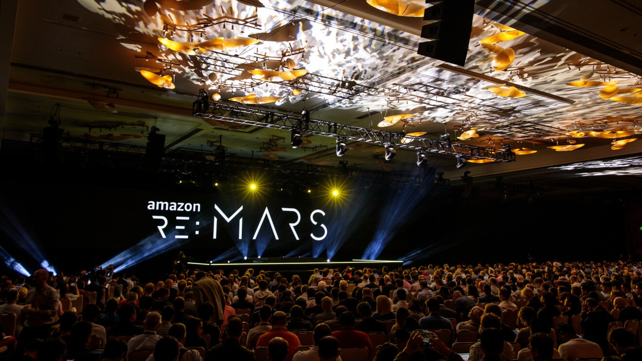 An image from re:MARS 2019 conference