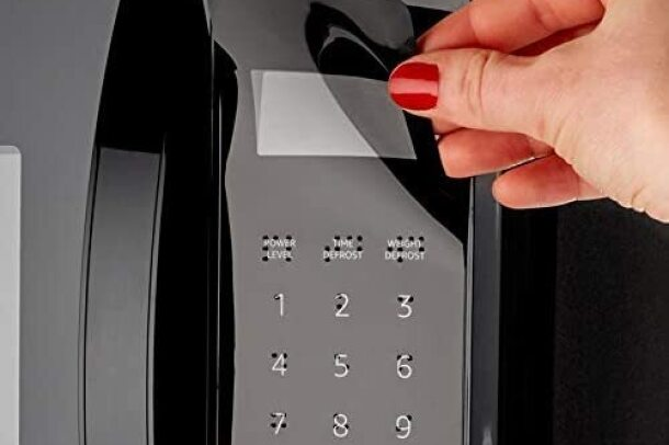 A product image of the braille keypad overlay available for the Amazon Smart Oven.