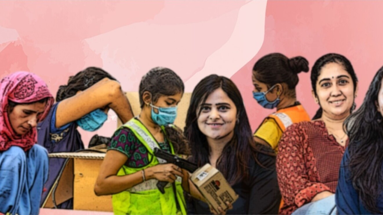 Artistic Image of Amazon Women employees and other working women