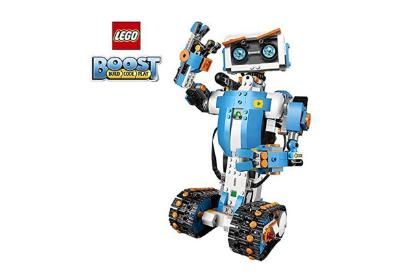 A building toy with more than 840 LEGO pieces, a LEGO move hub, interactive motor and a color & distance sensor