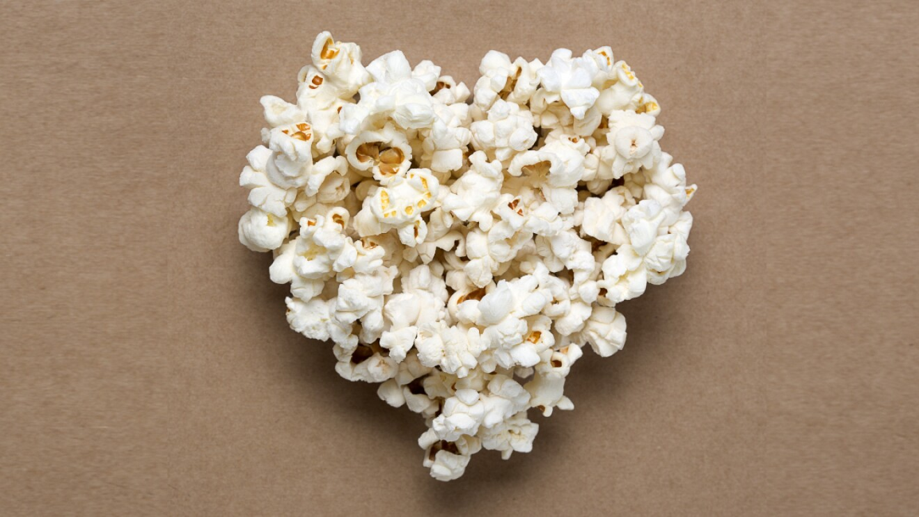 Image of popcorn in hearty sharp indicating binge watch shows on Prime Video with popcorn