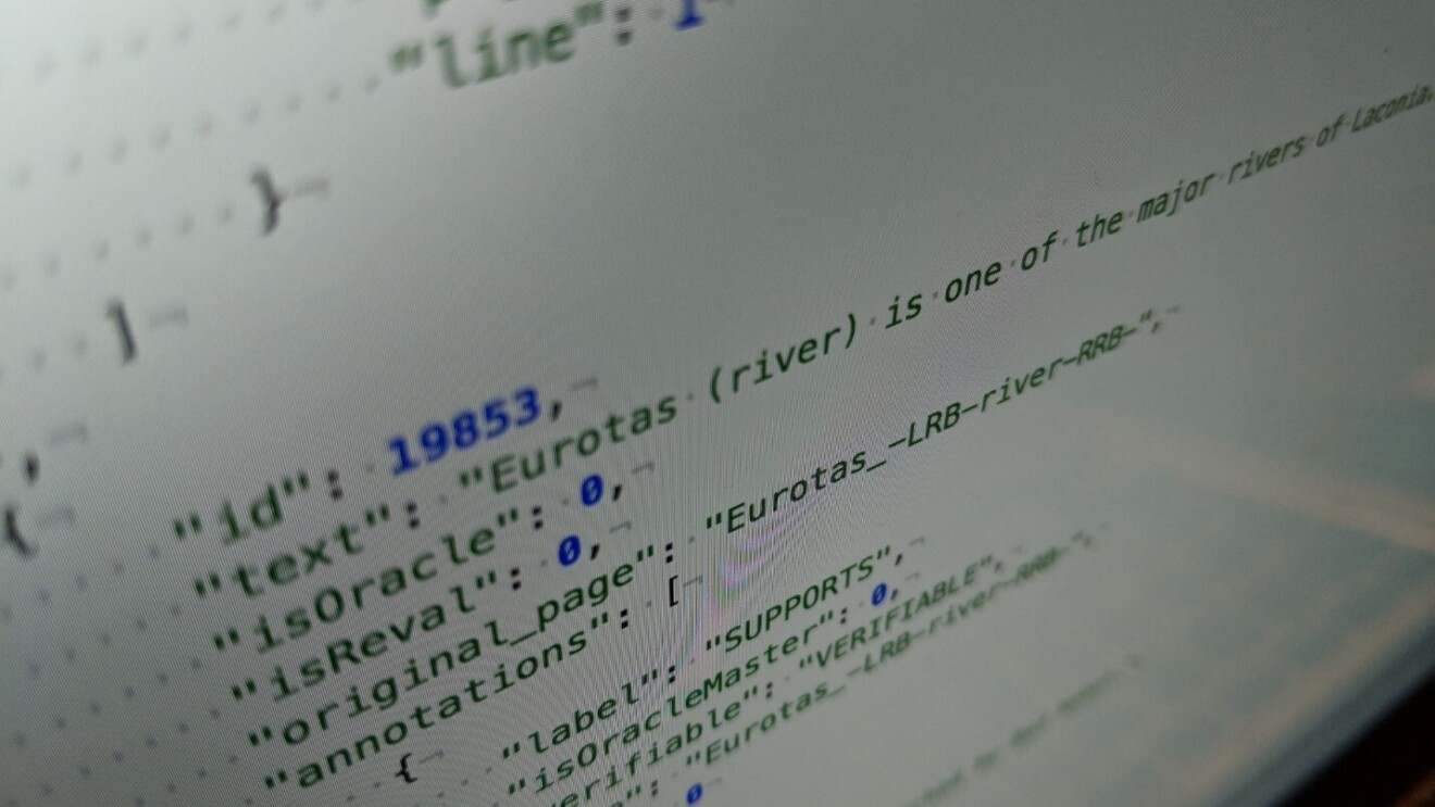 Artificial Intelligence code on a screen
