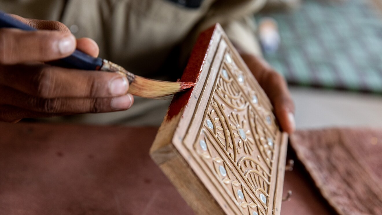 Mudwork Art form by Maji Khan