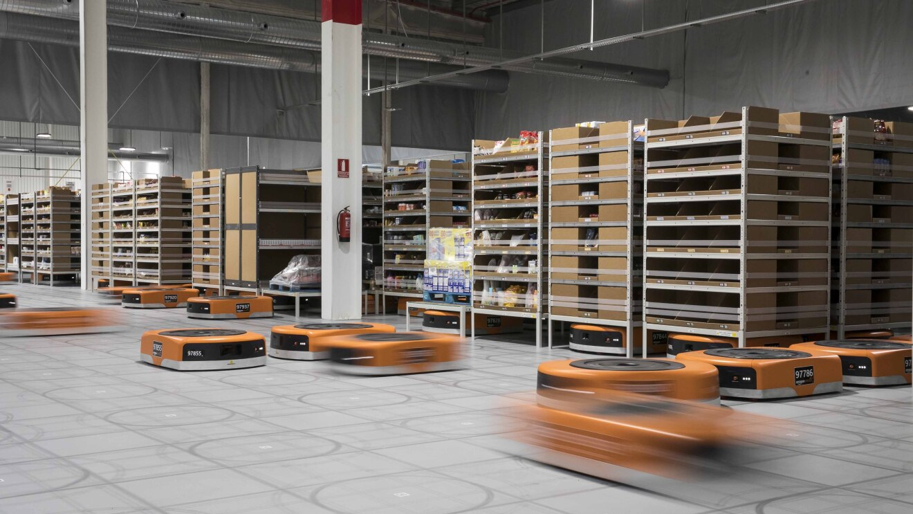 Amazon robotics at work in a Fulfillment Center
