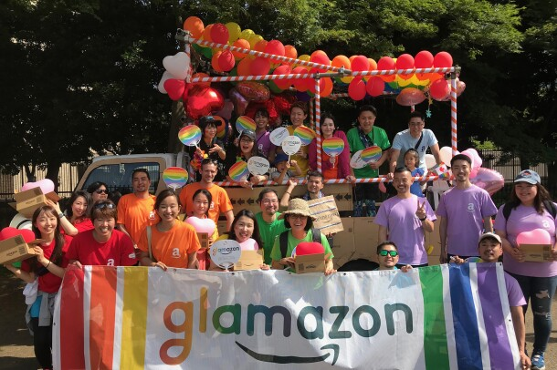 Amazonians from around the world celebrate Pride