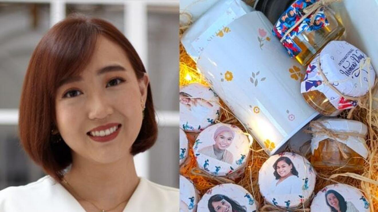 HoneySpree's brand owner alongside her brand's products