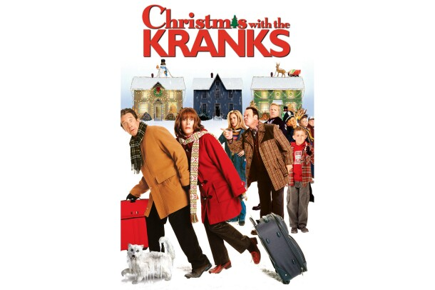 Christmas with the Kranks movie cover with Jamie Lee Curtis, Tim Allen, Dan Akroid and others.
